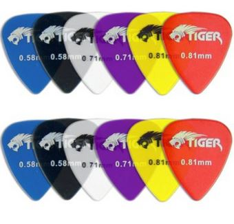 Tiger Gel Guitar Plectrums