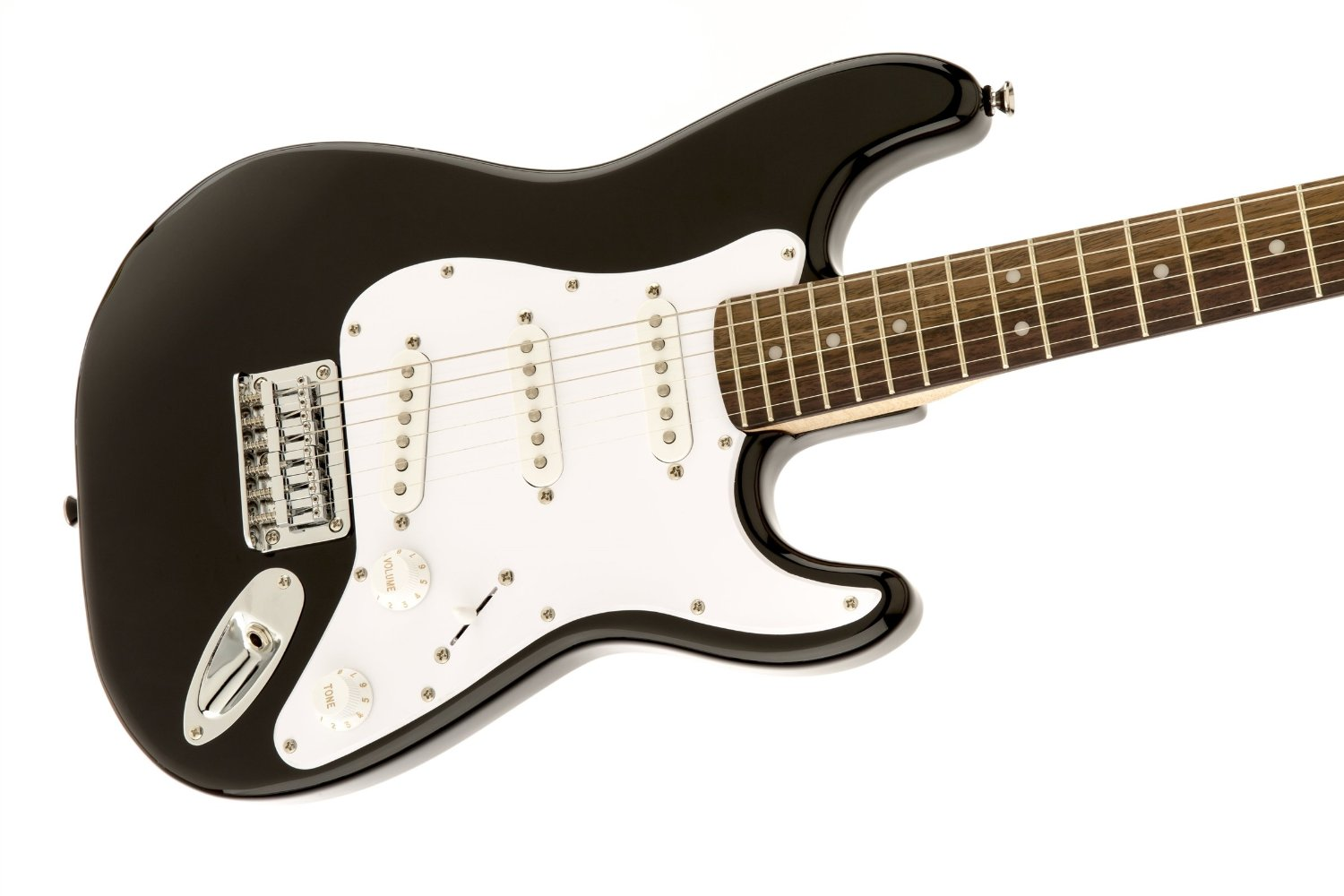 squier by fender affinity stratocaster in black 3 4 mini electric guitar all guitars. Black Bedroom Furniture Sets. Home Design Ideas